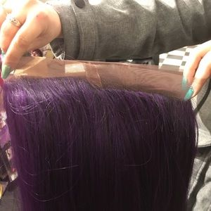 Accessories - Purple wig 360 Swisslace Long trending now 2019